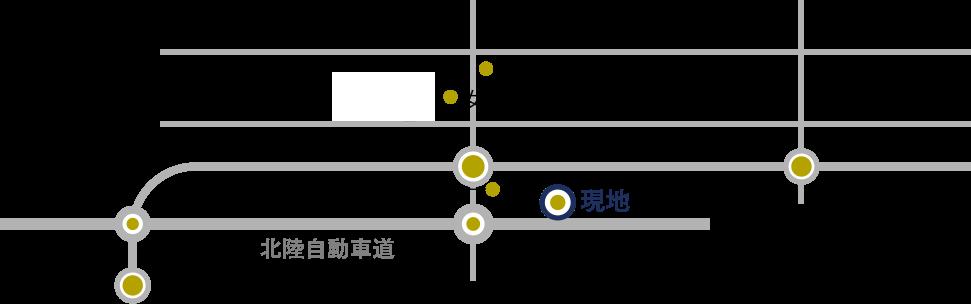 新潟市中央区鳥屋野、周辺地図