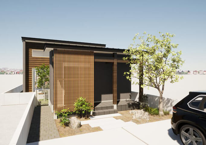 新潟市中央区鳥屋野の建物プラン