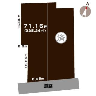 新潟県新潟市中央区鳥屋野の区画図