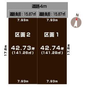 新潟県新潟市中央区 和合町1丁目の区画図
