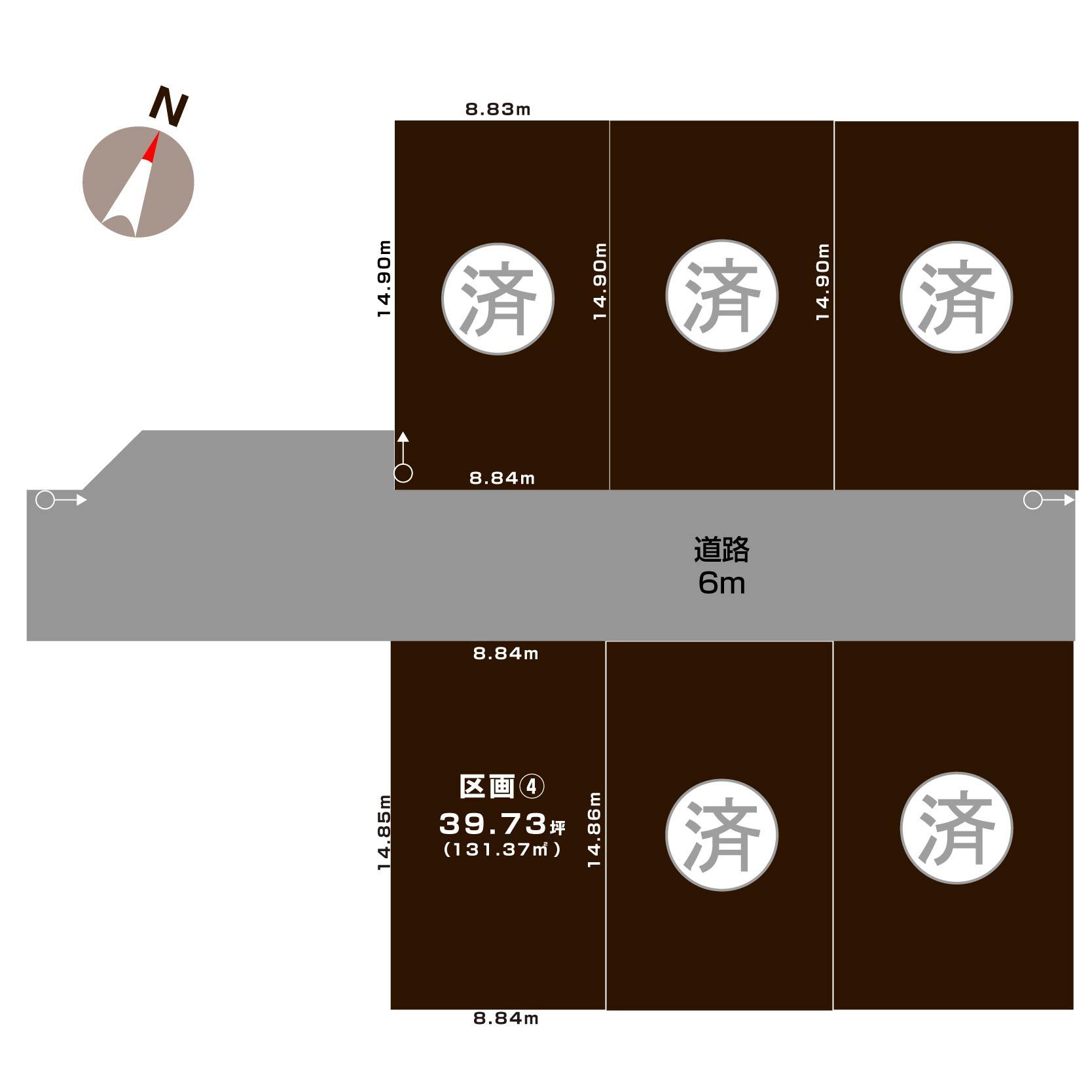 新潟県新潟市中央区網川原1丁目の区画図