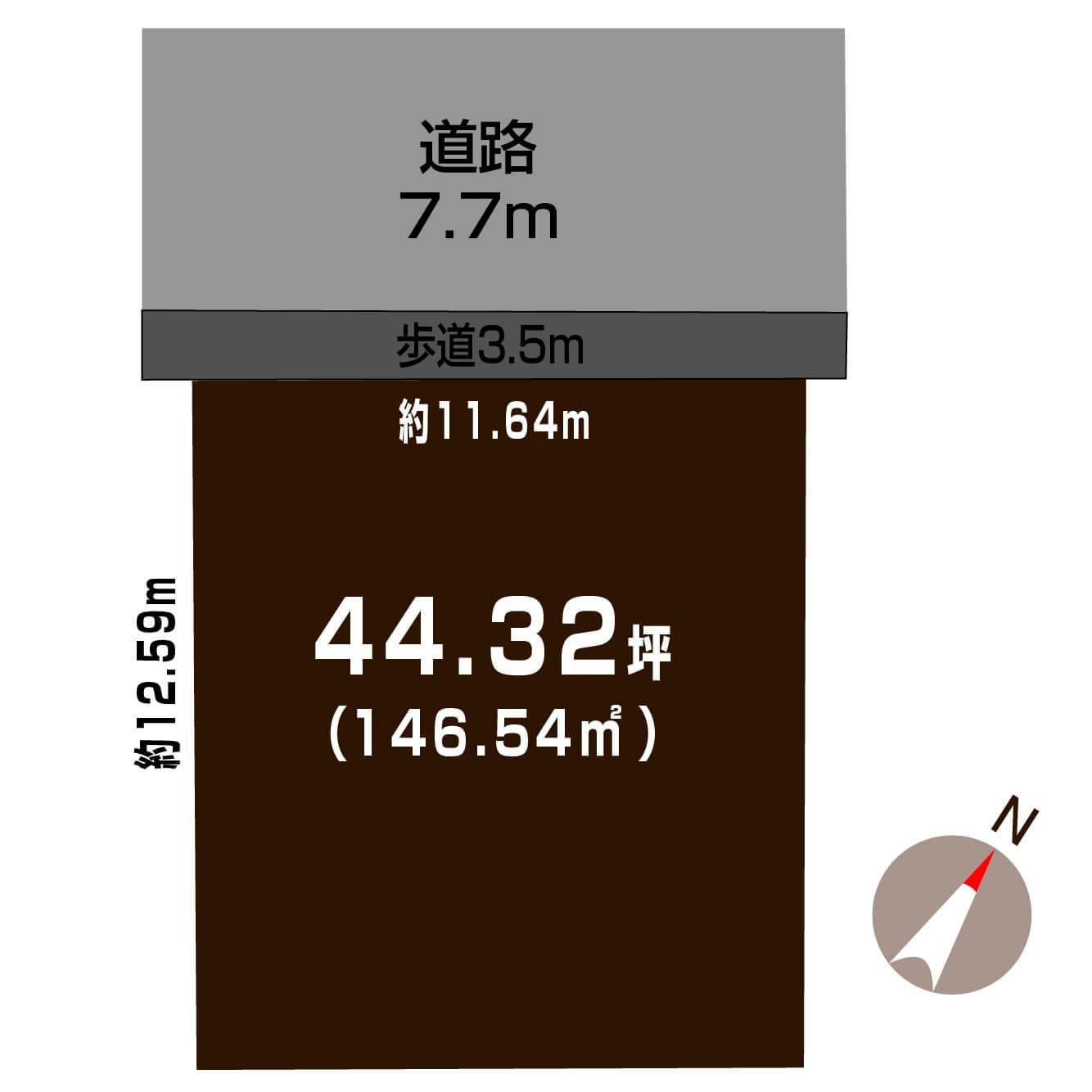 新潟県新潟市東区 新岡山2丁目の区画図