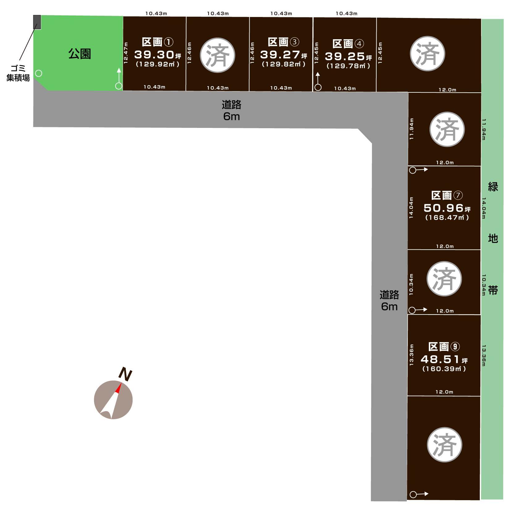 新潟県新潟市東区上木戸1丁目の区画図