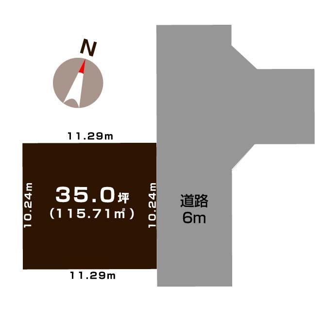 新潟市東区上木戸の【土地】不動産情報(建物プラン提案付)