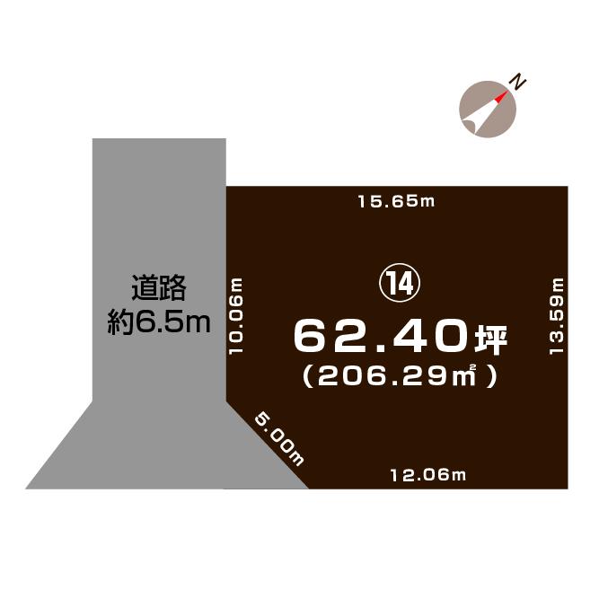 新潟県長岡市下山3丁目の区画図