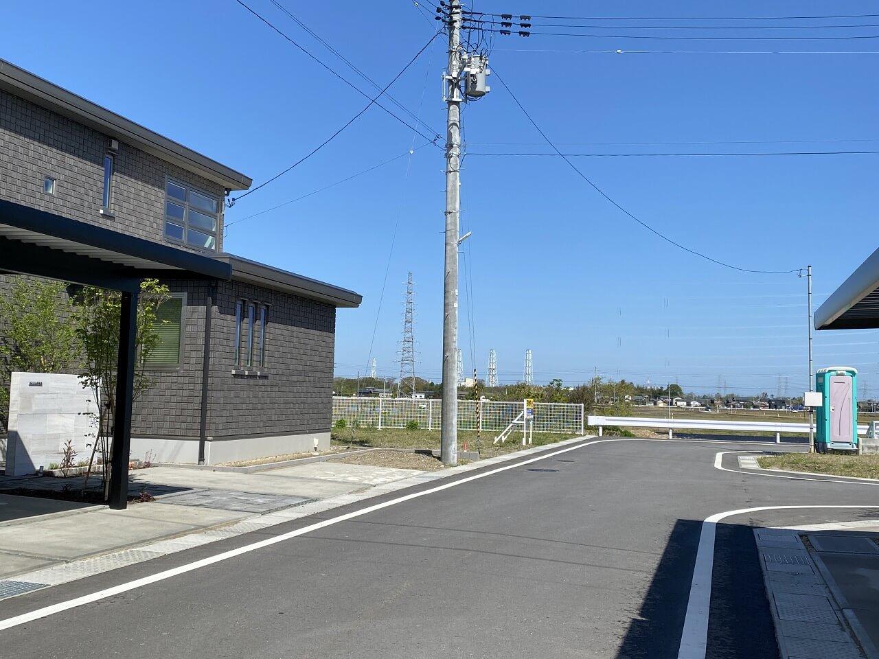 新潟県北蒲原郡聖籠町諏訪山の区画図