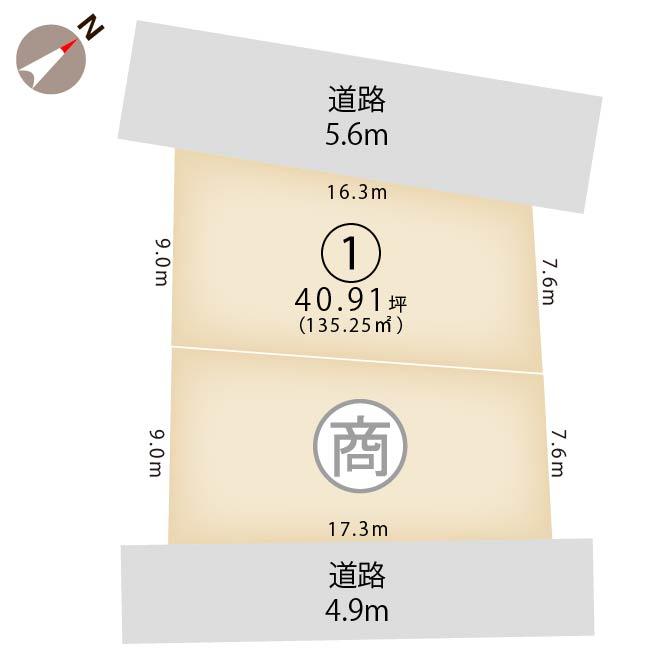 新潟県新潟市中央区水道町2丁目の区画図