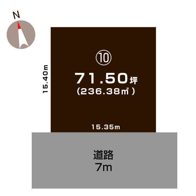 新潟県上越市大貫4丁目の区画図