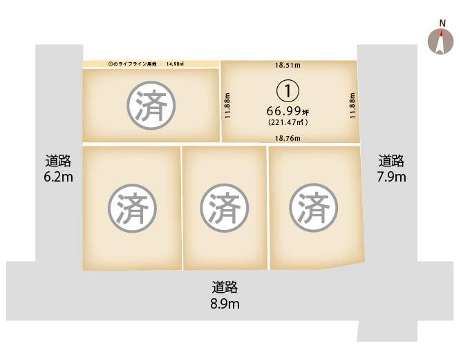 新潟県上越市大字下源入神士の区画図
