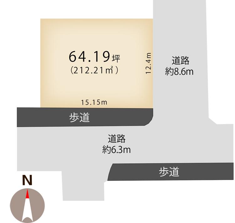 新潟県新潟市秋葉区 中野4丁目の区画図