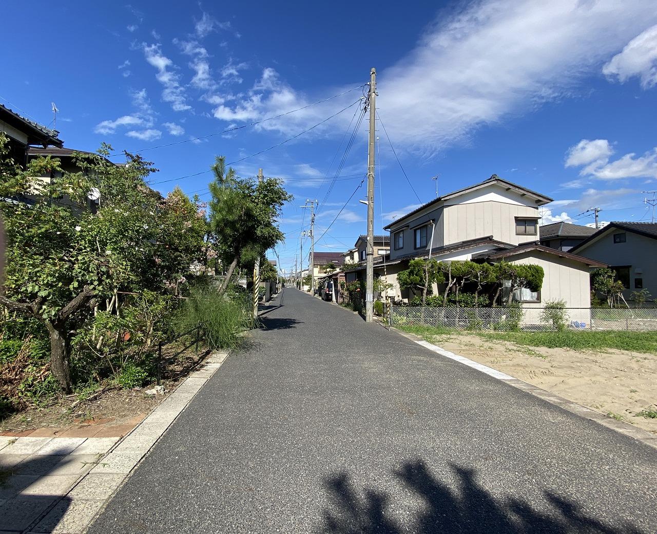 新潟県新潟市西区真砂2丁目の区画図